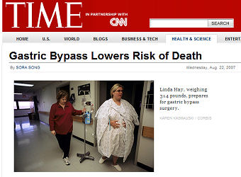 "Time Magazine Headline ""Risk of Death"""